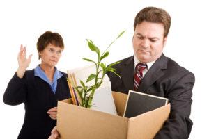pogled na odpuščenega sodelavca